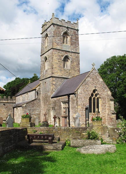 Church of St Thomas The Apostle, Redwick near the Wales Coast Path. Photgraphed by Charles Hawes. Walking in Wales.