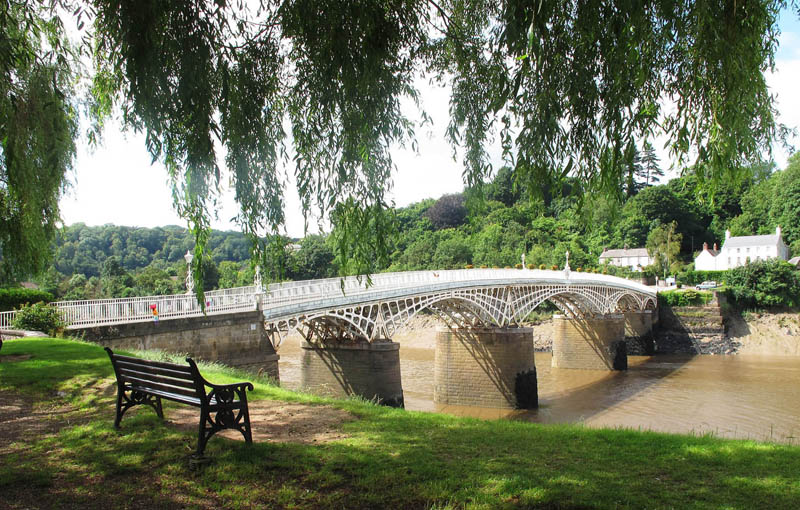 The start of The Wales Coast Path in Chepstow. Photograph by Charles Hawes