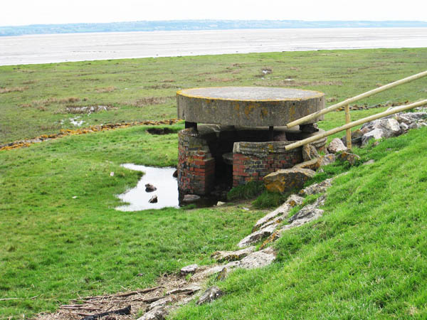Pill Box near Chapel Farm, Magor taken from the Wales Coast Path. Photograph by Charles Hawes. Walking in Wales.