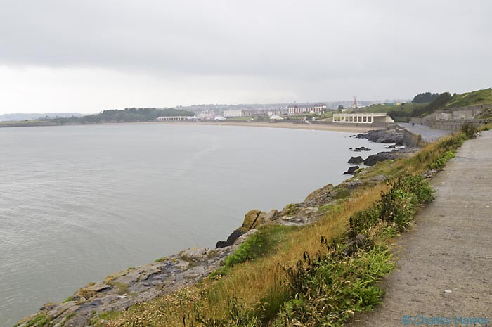 Whitmore Bay, Barry Island on The Wales Coast Path, photographed by Charles Hawes. Walking in Wales.