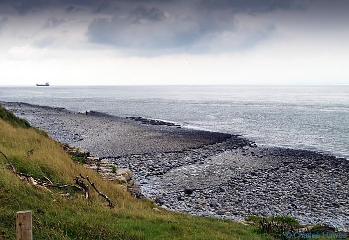 Watch House beach, Glamorgan, on the Wales Coast Path, photographed by Charles Hawes. Walking in Wales.