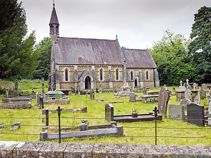 St Teilo's church, Merthyr Mawr photographed from the Wales Coast Path by Charles Hawes. Walking in Wales.