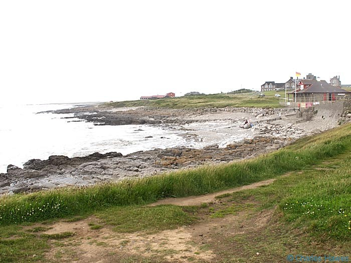 The Lifeguard station from Locks Common near portcawl, photographed from The Wales Coast Path by Charles Hawes