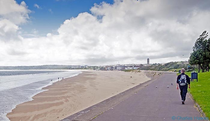 Swansea Bay on the wales Coast Path, photographed by Charles Hawes. Walking in Wales.