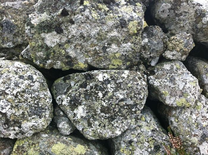 Granite dry stone wall