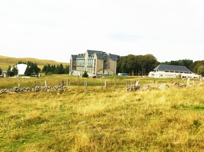 Sports Hotel near Aubrac on The Way of St James between Nasbinals and Chely d'Aubrac on The Way of St James photographed by Charles Hawes. Route st Jacques. GR65