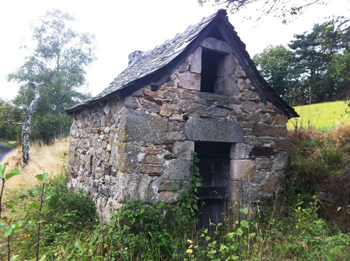 Abandoned bakery next to The way of St James between Estaing and Golinac, France, photographed by Charles Hawes
