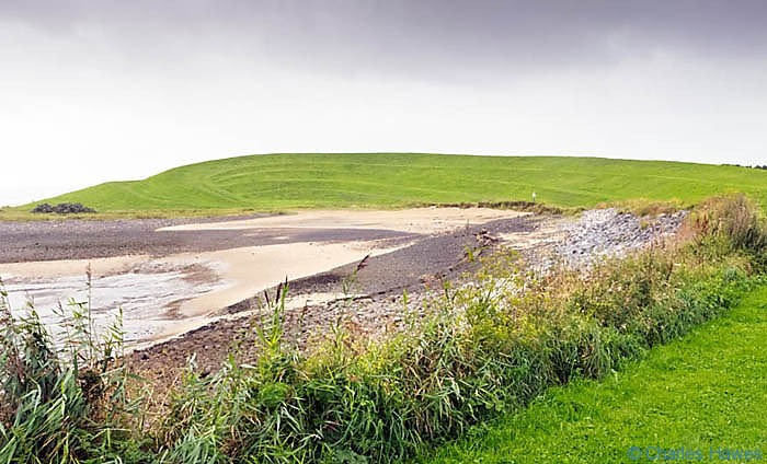 Landformphotographed on The Wales Coast path between Llanelli and Kidwelly by Charles Hawes. Walking in Wales.