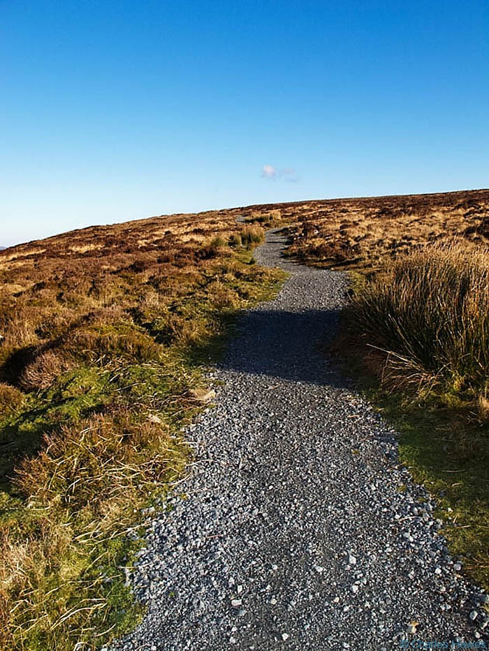 Path on the side of Blorenge, Wales, photographed by Charles Hawes. Walking in Wales.