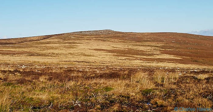 Summit of Blorenge from Carn y Big Fach photographed by Charles Hawes. Walking in Wales.