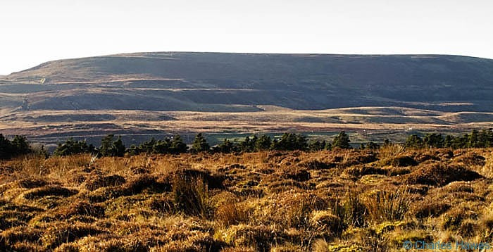 View to Mynedd Varteg from Carn y Big Fach photographed by Charles Hawes. Walking in Wales.