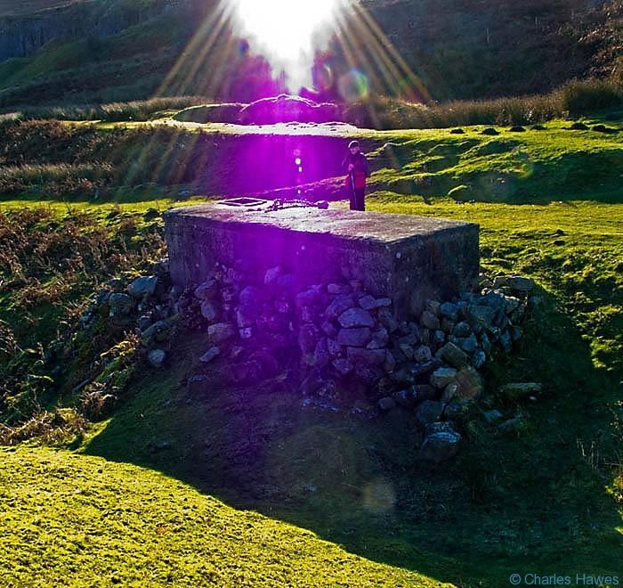 Resvoir at Pinnacle Bay on Mynydd Llangatwg, Powys, photographed by Charles Hawes