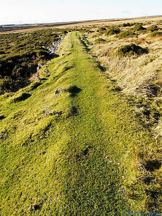 Tramroad that serviced the Darren Disgwylfa quarry, Powys, photographed by Charles Hawes