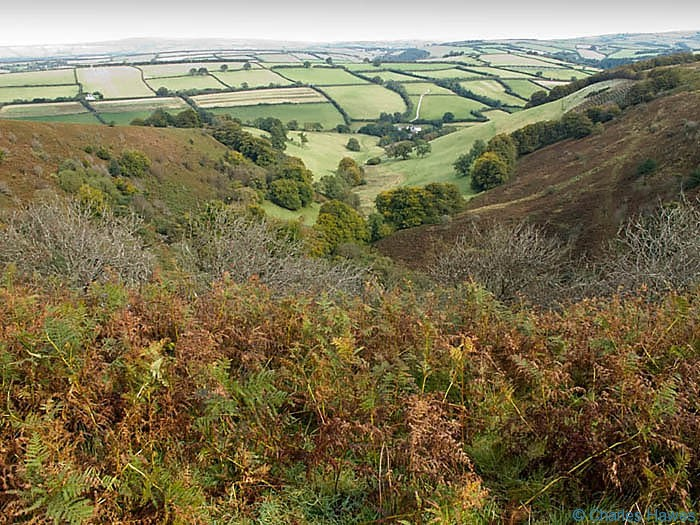 The Punch Bowl near Winsford Hill, Exmoor, photographed by Charles Hawes. Walking in Exmoor.