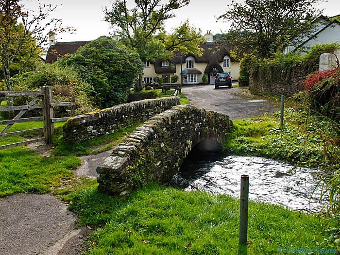 Packhorse Bridge in Winsford, Somerset, Exmoor, photographed by Charles Hawes. Walking in Exmoor.