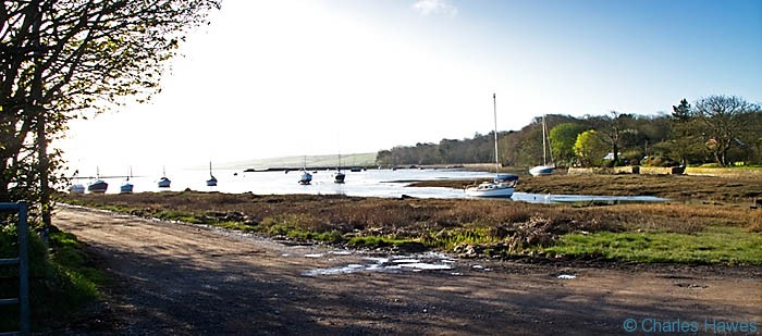 Harbour at Angle, Angle Bay, Pembrokeshire on The Wales Coast Path, photographed by Charles Hawes