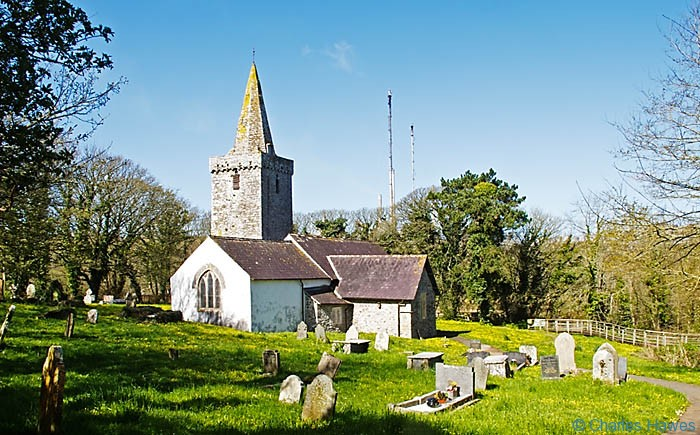 Church at Pwllcrochan on the Wales Coast Path, Pembrokeshire, photographed by Charles Hawes