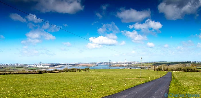 View over Milford Haven from the Wales Coast Path near Hundleton, photographed by Charles Hawes