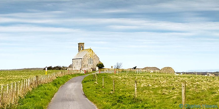 Flimston Chapel near Merrion, Pembrokeshire on the Wales Coast path, photographed by Charles Hawes