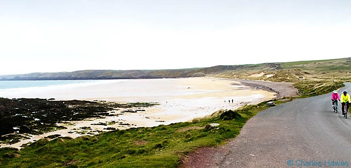 View of Freswater West from the Wales Coast Path in Pembrokeshire, photographed by Charles Hawes