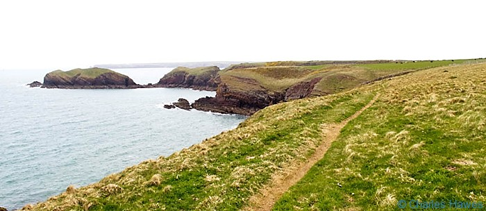 Sheep Island off the Wales Coast Path, Pembrokeshire, photographed by Charles Hawes