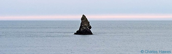 Church Rock off Broad Haven, Pembrokeshire, photographed by Charles Hawes