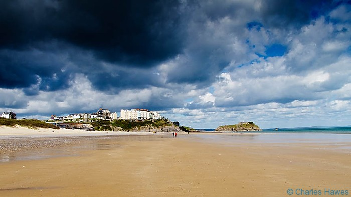 South Beach and view to Tenby, Pembrokeshire on the Wales Coast Path. Image by Charles Hawes