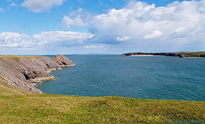 View to Caldey Island from near Giltar Point on the Wales Coast Path, Pembrokeshire. Image by Charles Hawes