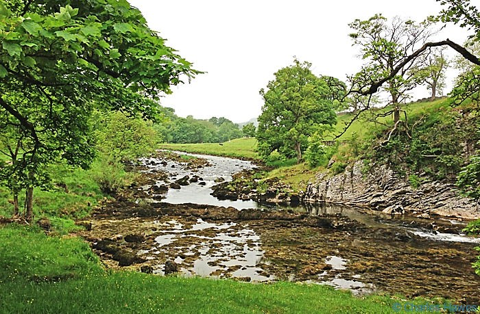 River Wharfe in Wharfedale just above Loup Scar, photographed by Charles Hawes