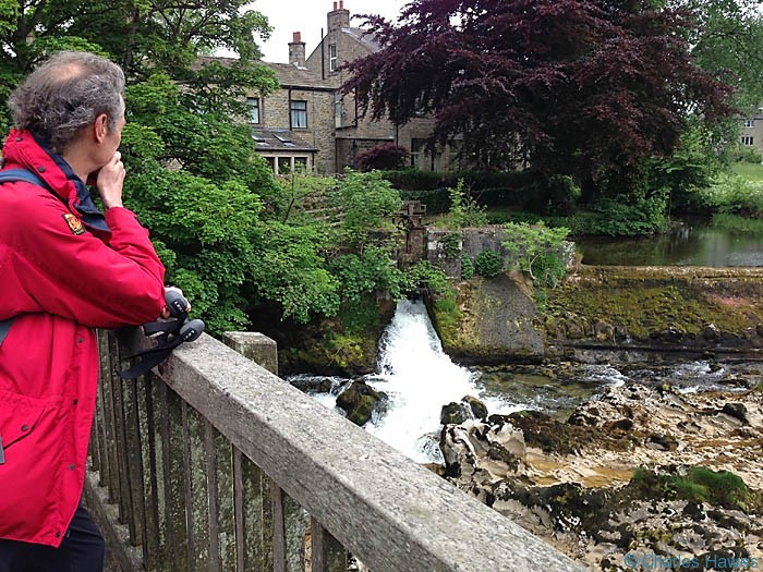 Linton Falls on The Dales Way in North Yorkshire, photographed by Charles Haswes