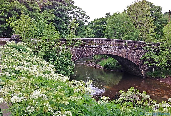 The bridge at Hubberholme on the Dales way, photographed by Charles Hawes