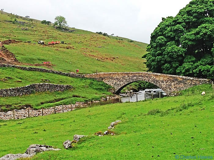 Bridge over the River Wharfe at Deepdale on The Dales Way, photographed  by Charles Hawes