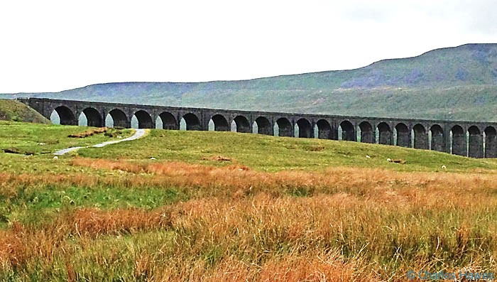 View of Ribblehead Viaduct, photographed by Charles Hawes
