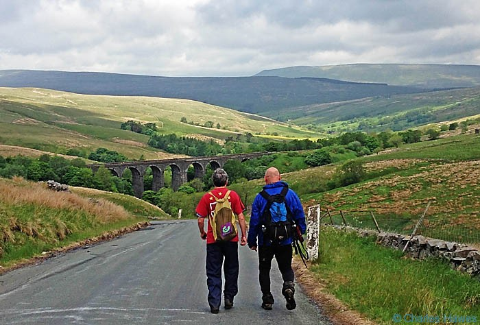 Descending Dent Road to the Dent Head viaduct on The Dales Way, photographed by Charles hawes