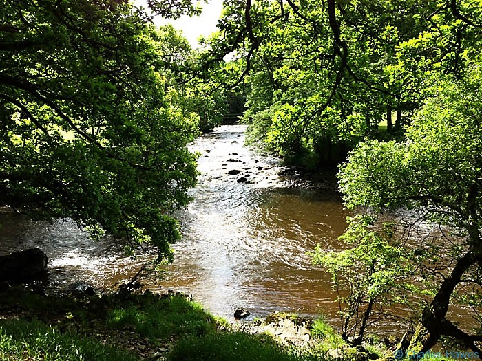The confluence of the River Dee with the Rawthey next to The Dales Way, photographed by Charles Hawes