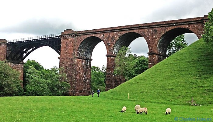 View of the Lune Viaduct, taken from The Dales Way, photographed by Charles Hawes
