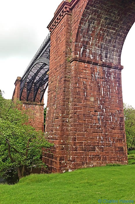 Close up view of The Lune Viaduct taken from The Dales Way by Charles Hawes