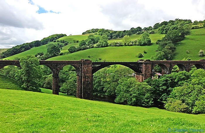 View of the Lune Viaduct taken from The Dales Way and photographed by Charles Hawes