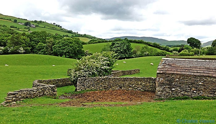 Dry stone sheep enclosure on The Dales Way near Branthwaite, photographed by Charles Hawes