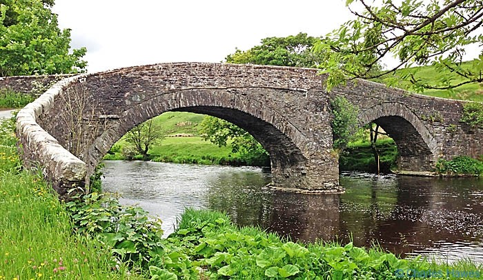 The Crook of Lune Bridge near Lowgill on The Dales Way, photographed by Charles Hawes