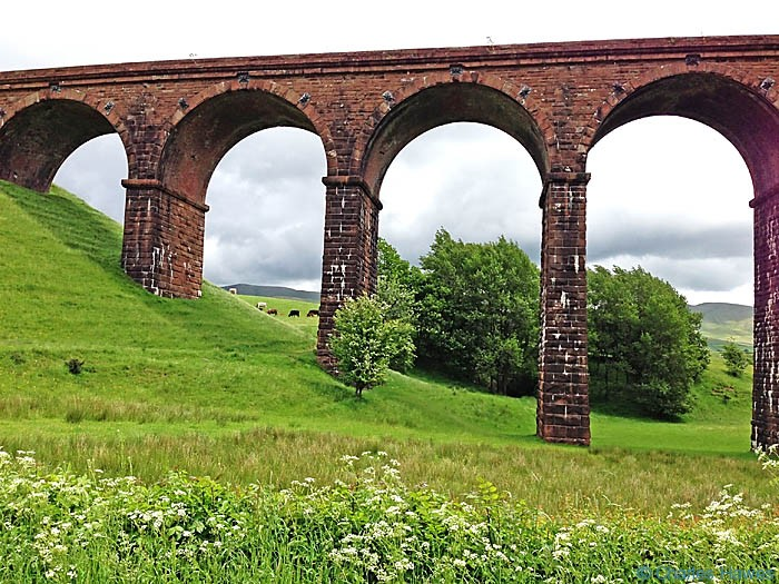 The Lowgill Viaduct photographed from The Dales way by Charles Hawes