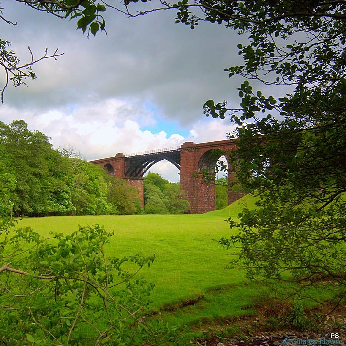 View of the Lune Viaduct, taken from The Dales Way, photographed by Paul Steer