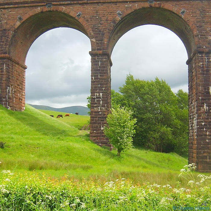 The Lowgill Viaduct, photographed from The Dales way by Paul Steer