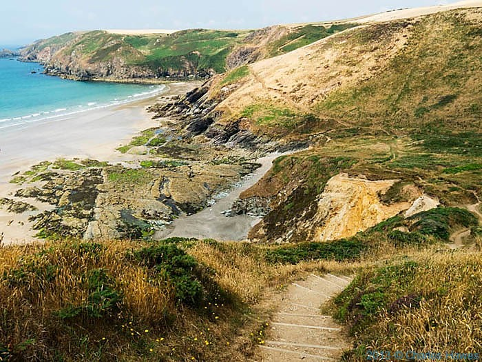 View of Cwm Mawr, Pembrokeshire,  photographed from The Wales Coast Path by Charles Hawes