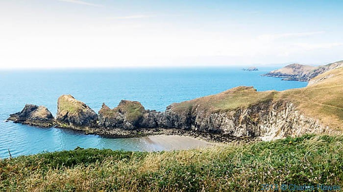 Dinas Fawr Pembrokeshire, photographed from The Wales Coast path by Charles Hawes