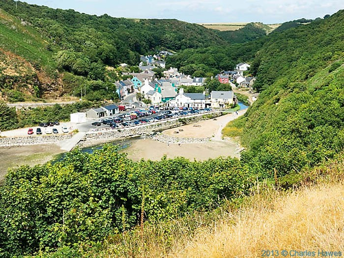 View over Solva in Pembrokeshire, photographed from The Wales Coast path by Charles Hawes