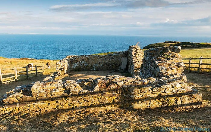 St Non's chapel, Pembrokeshire, photographed by Charles Hawes