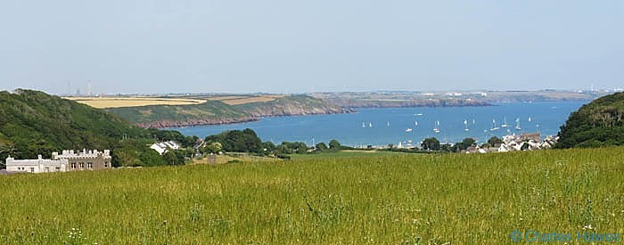 View from near Great Castle Haed to Dale in Pembrokeshire photographed from The Wales Coast path by Charles Hawes