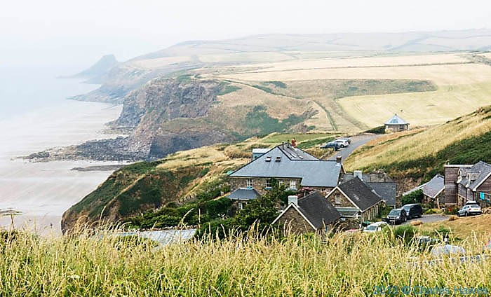 The Druidstone Hotel, Pembrokeshire, photographed from The Wales Coast path by Charles Hawes