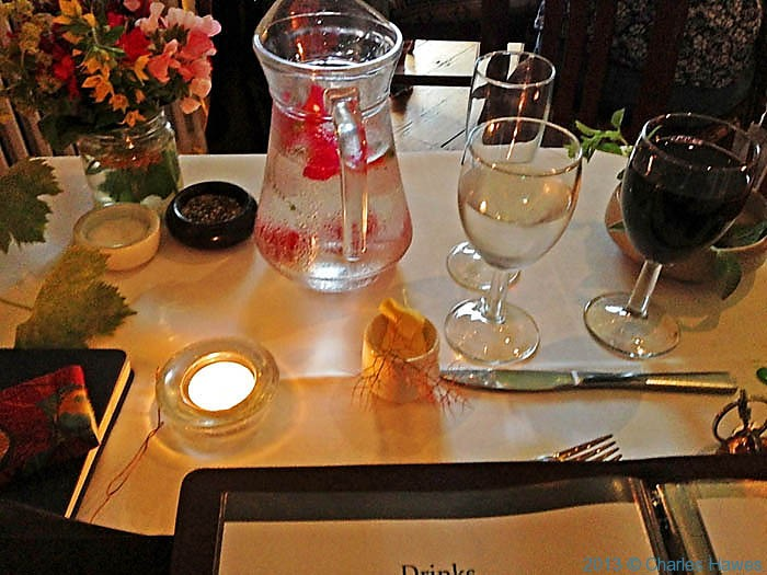 Table setting in The Druidstone Hotel, Pembrokeshire, photographed by Charles Hawes